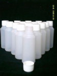 5 x 100 ml plastic clear bottles ideal for hobby / craft / travel / medicine